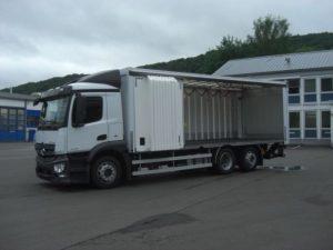 auta ciężarowe z windą z niemiec