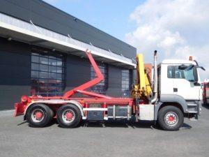 Ciężarówka z niemiec Hakowiec z HDS sprzedaż leasing kredyt używanych poleasingowych samochodów ciężarowych z Niemiec hakowiec z HDS