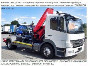Ciężarówka Hakowiec z HDS sprzedaż leasing kredyt używanych poleasingowych samochodów ciężarowych hakowiec z HDS