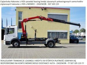 Samochody ciężarowe Hakowiec z HDS sprzedaż leasing kredyt używanych poleasingowych samochodów ciężarowych z Niemiec hakowiec z HDS